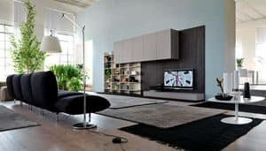 Citylife 13, Modern furniture for living rooms, with cladding panels