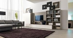 Citylife 41, System furniture for living rooms with TV stand