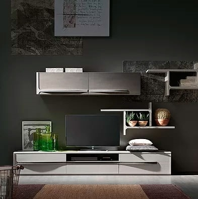Cleo comp. CL5, Living room furniture with on shelves and wall units