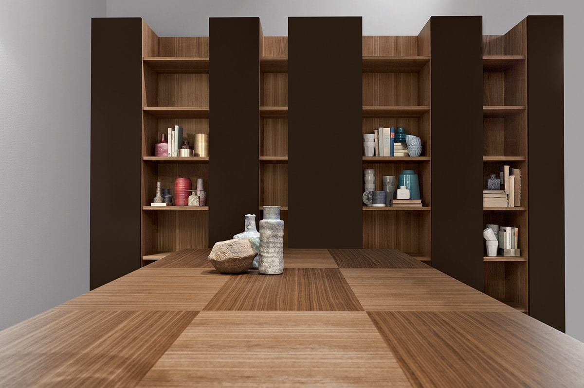 CODE comp.04, Modern library, elegant and robust, for living room