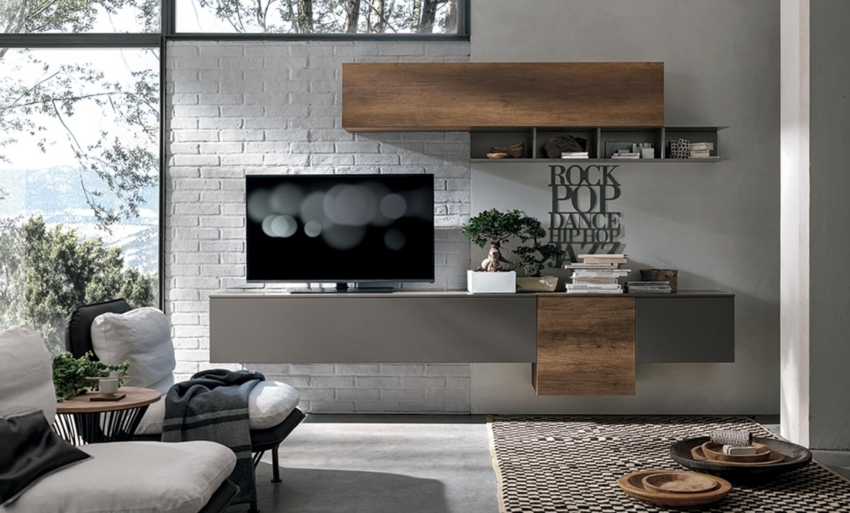 Comp. A017, Hanging cabinet for living room