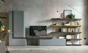 Comp. A080, Living room furniture with bookcase