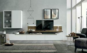 Comp. A127, Living room furniture with wall units