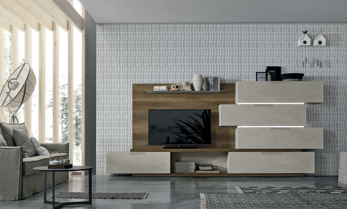 Comp. S005, Living room furniture with LED lights