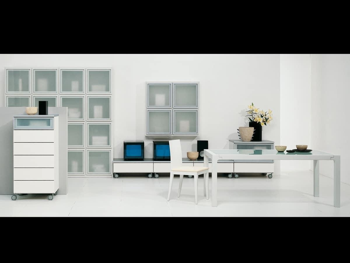 Day Lara 01, Modular system for living rooms, in elegant design