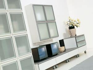 Day Lara 01, Modular system for living rooms, in elegant design