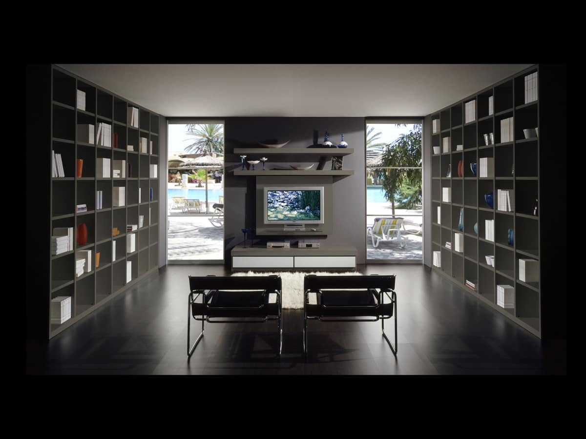 Day Library 10, Modular furniture for living rooms, size customizable