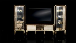 DIAMANTE TV composition 15, Living room furniture with display cabinets