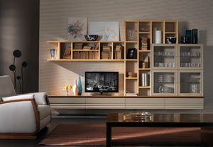 Elettra Art. EL1014, Sectional equipped wall for living room