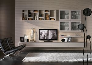 Elettra Art. EL1018, Furniture with wall cabinets for living room
