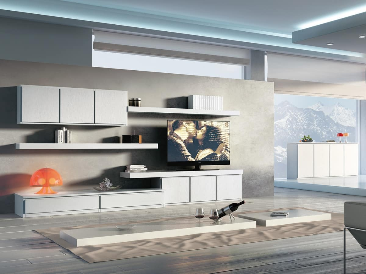 Giorno Sistemi 09, Set of modular furniture for modern stays