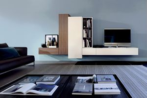 GRAPHOS PLUS 167, Suspended wall system for living room