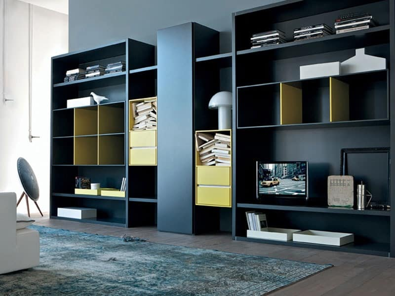 Bookcase for living room, Modular cabinet for dining room | IDFdesign