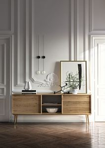 Sideboard Coco 038/2, Oak veneered wood sideboard