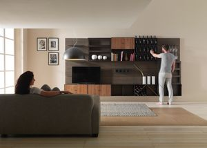 Modulo, Modular furniture, with bottle holder elements