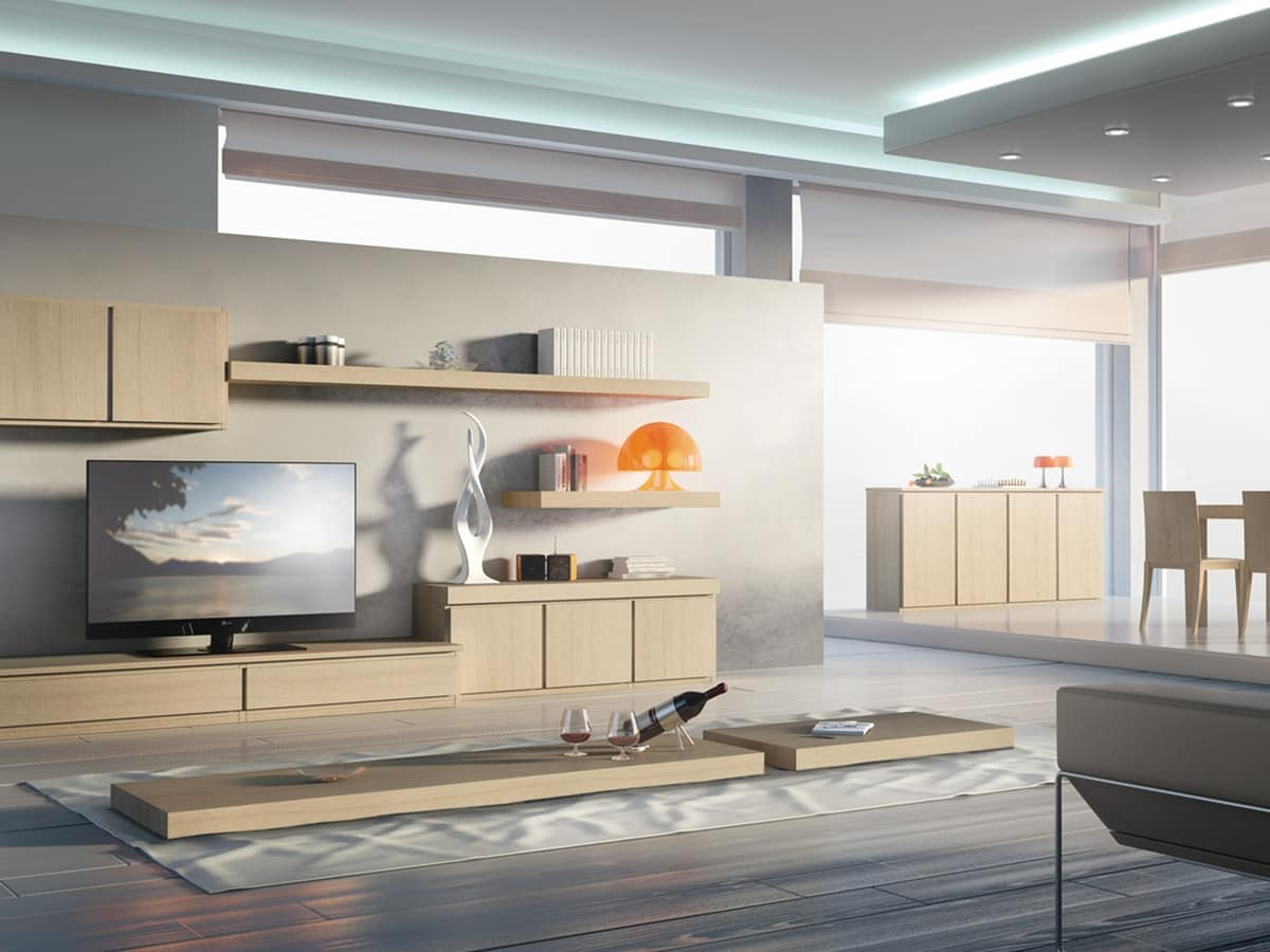 Day Systems 01, Furniture system for stays, modular, essential