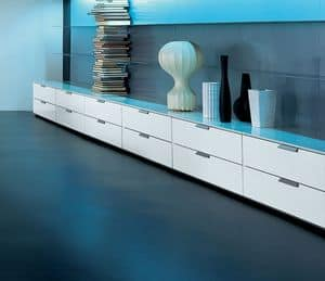 PRISMA comp.05, Low cabinet with drawers for the living room, high quality