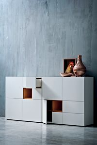 QUADRI 162, Modular and customizable living room furniture