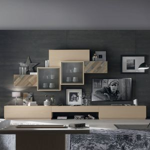 Spazio Contemporaneo SPAZ03, Living room furniture with wall units