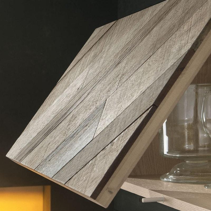 Spazio Contemporaneo SPAZ04, Modular wooden furniture for living room