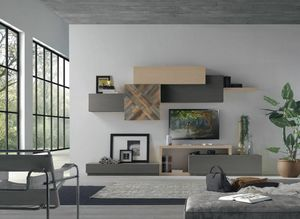 Spazio Contemporaneo SPAZ08, Modern modular furniture for living room