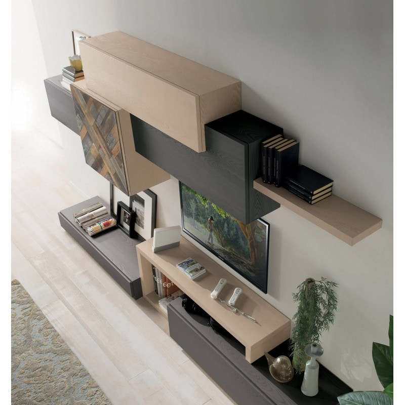 Spazio Contemporaneo SPAZ08, Modern modular furniture for living room
