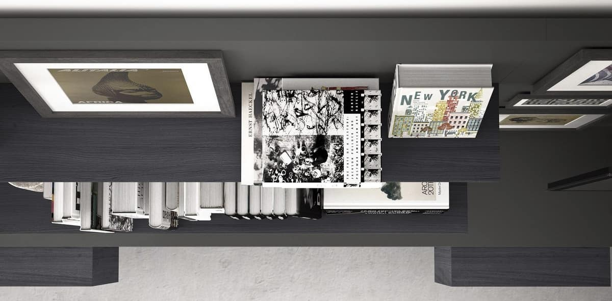 Spazio S313, Wall system for TV, with built-in lighting