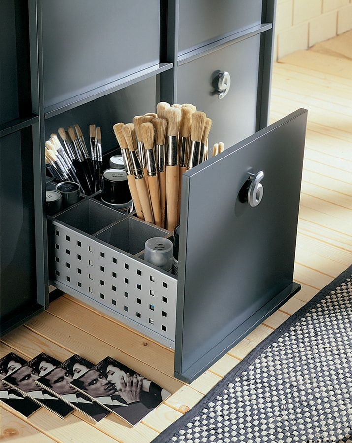 TOOLBOX comp.03, Storage unit for home or office, numbered handles