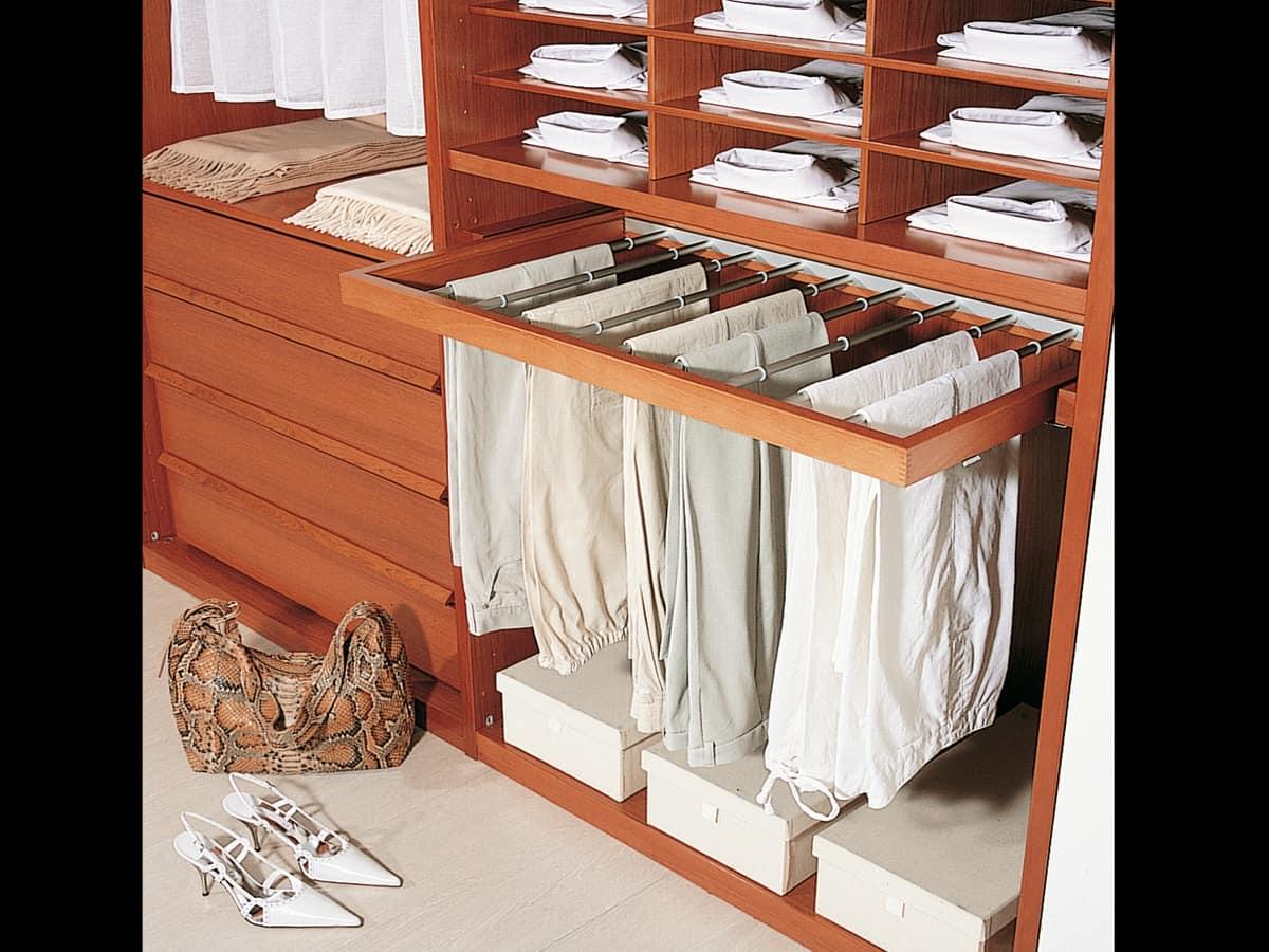 Internal Equipment 06, Modular accessories for walk-in closet and wardrobe