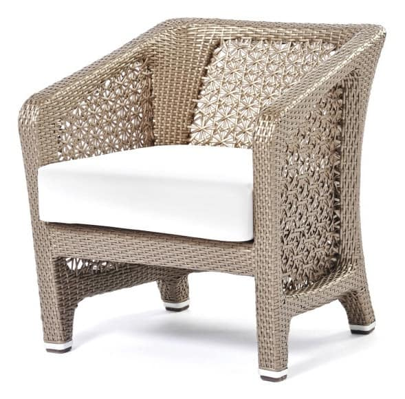 Altea armchair, Woven armchair suited for outdoors