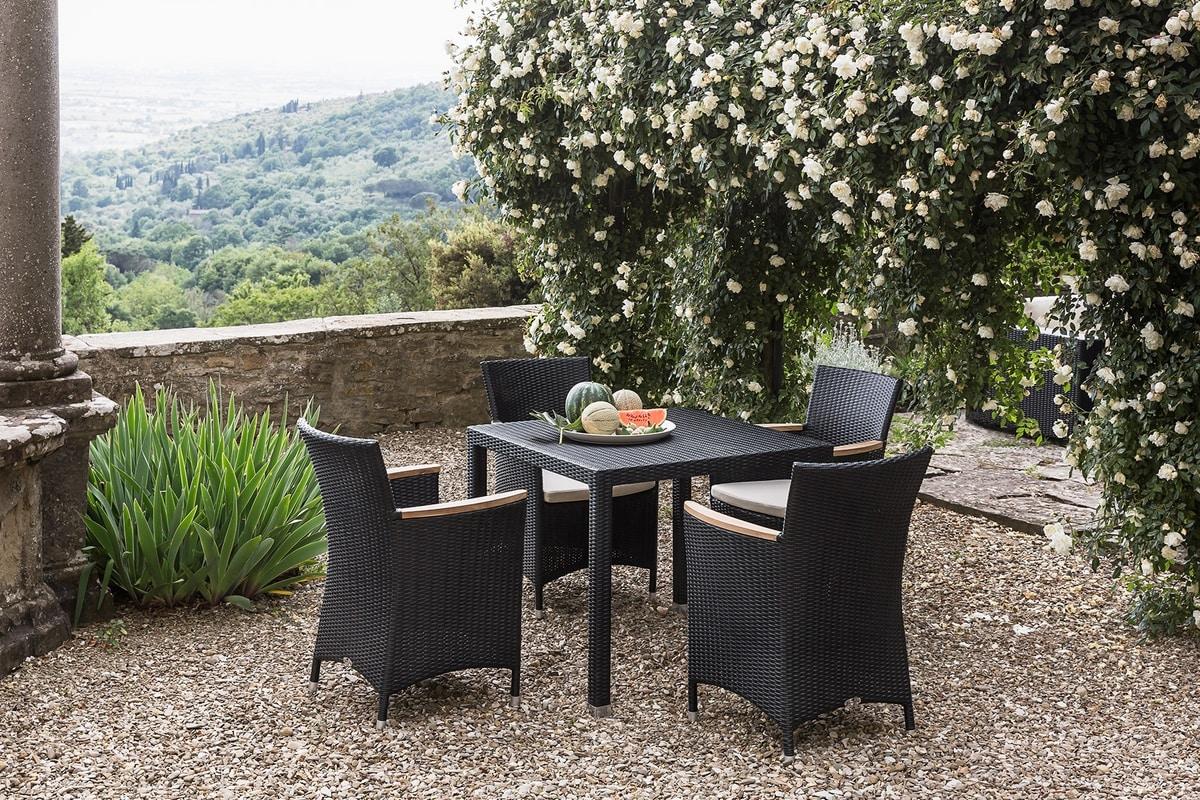 Maui 4314, Garden armchair in woven synthetic fiber
