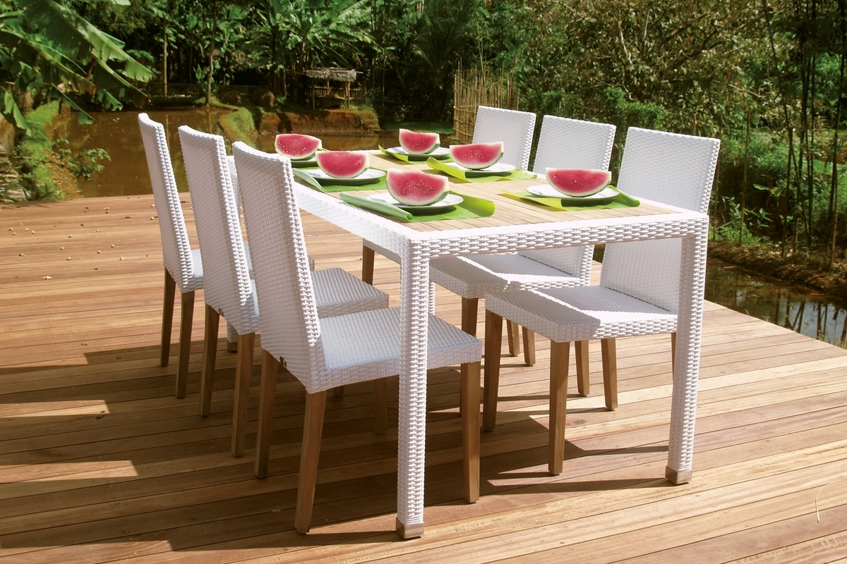 Fiji 4306, Dining chair for garden with tall and comfortable backrest