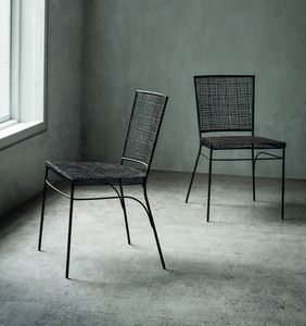 Giulia, Metal and rattan chair