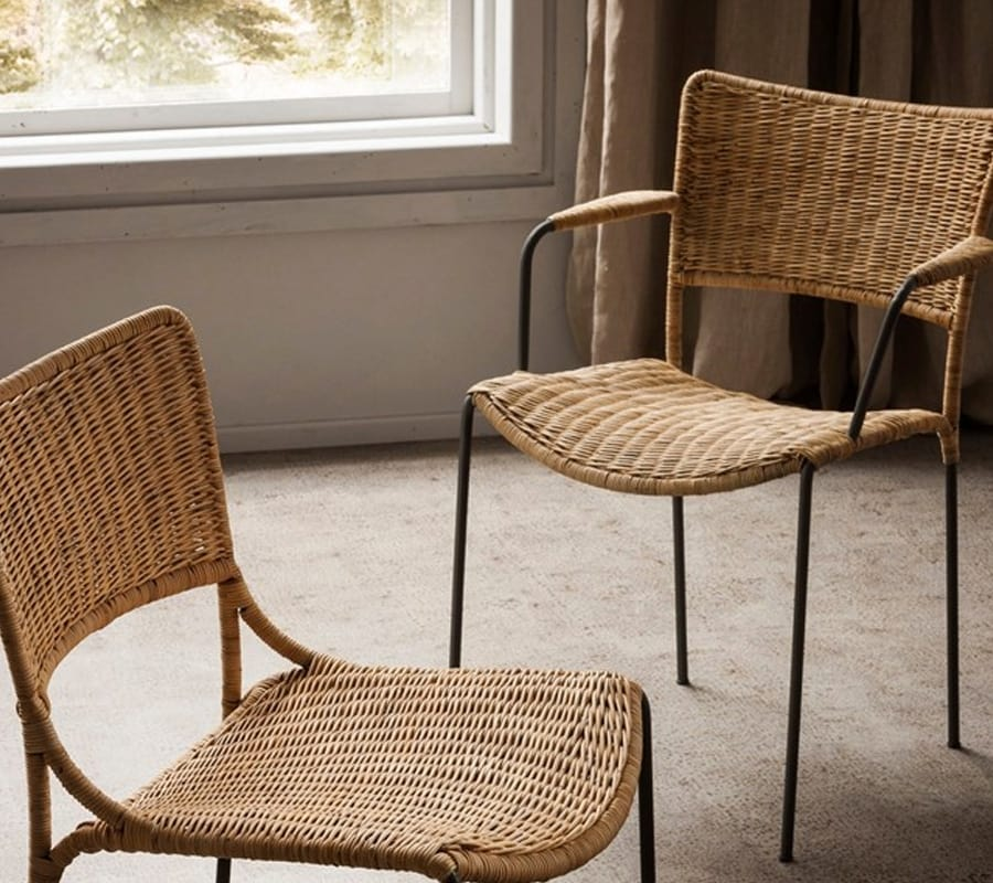 Ina, Chair in natural hand woven bamboo