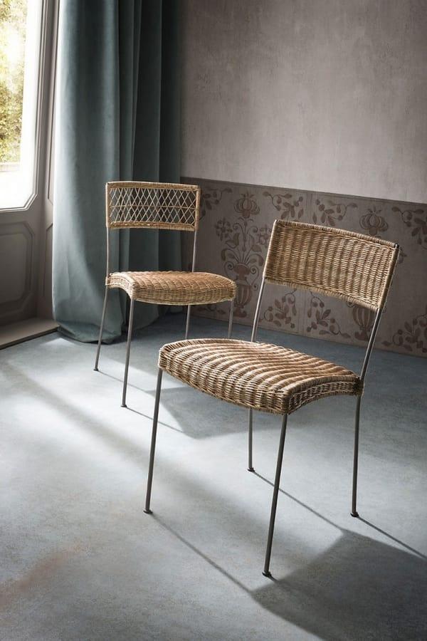 Sedie In Midollino.Woven Wicker Chairs Idfdesign