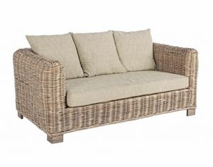 Sofa Fortaleza, 2-seater ethnic braided sofa