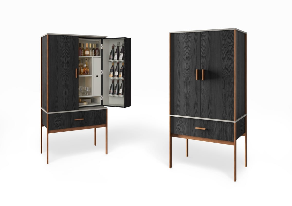 Convivium, Cabinet with cup holders and bottle holders