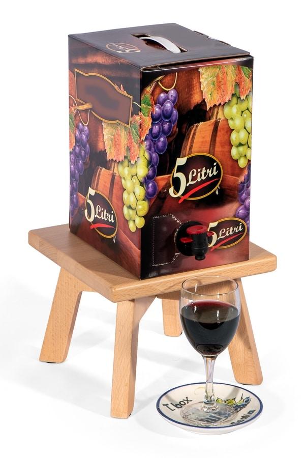 T. box, Bag in Box holder in wood