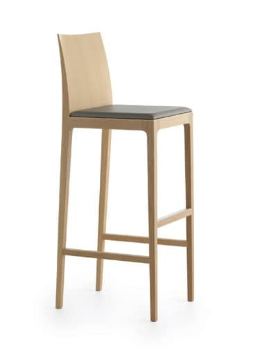 Anna 65-82, Wooden stool with footrest