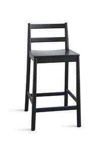 ART. 026-LE JULIE, Stool in ash, available in various colors