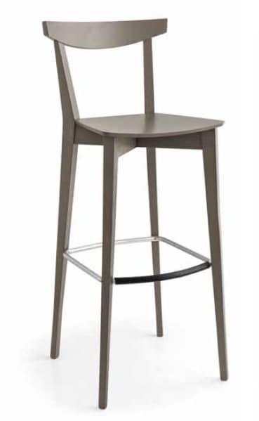 Eva-SGA, Contemporary stool in wood