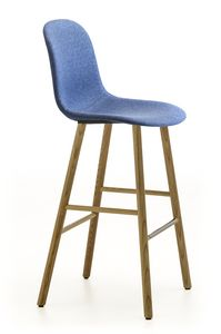 Máni Fabric ST-4WL, Stool with wooden legs