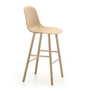 Máni Wood ST-4WL, Stool in wood, h75