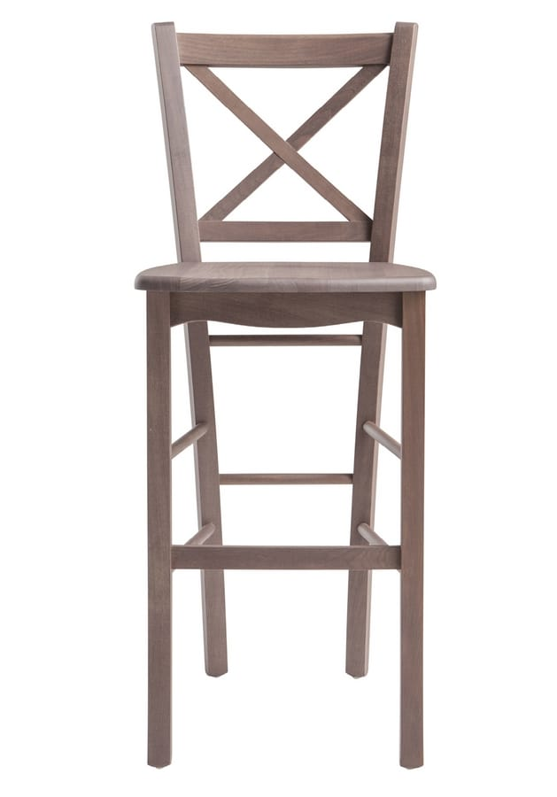 SG 452, Wooden stool with footrest