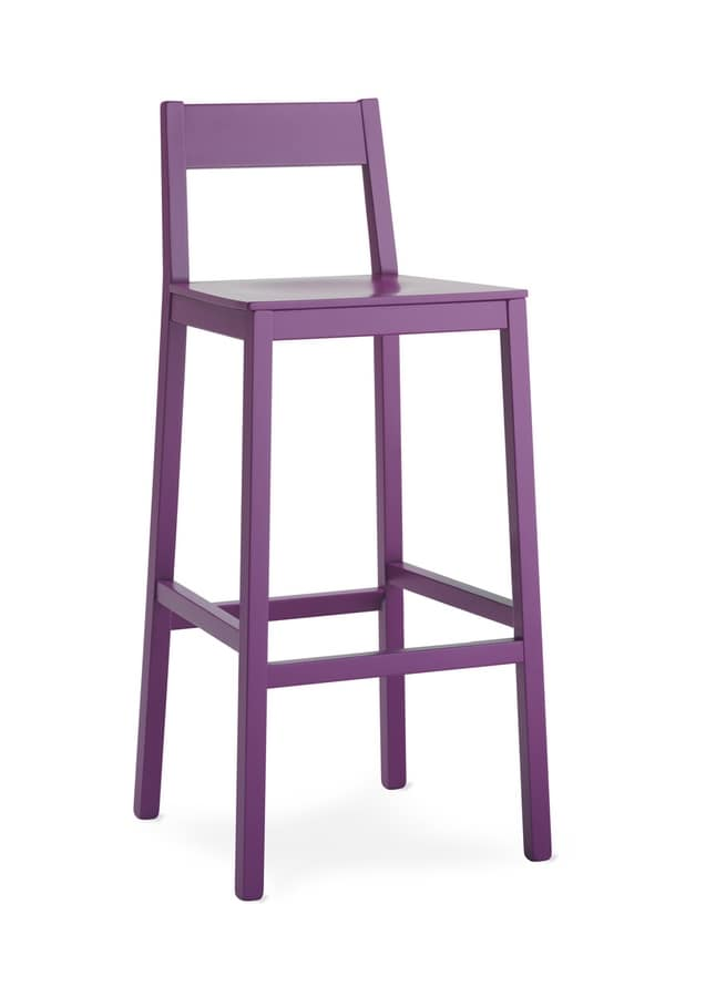 SG. INGRID, Stool made of painted wood, for bars and pubs