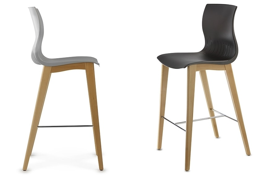 WEBBY 345H, Wooden stool with fixed height