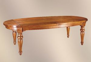 193, Oval table with turned legs