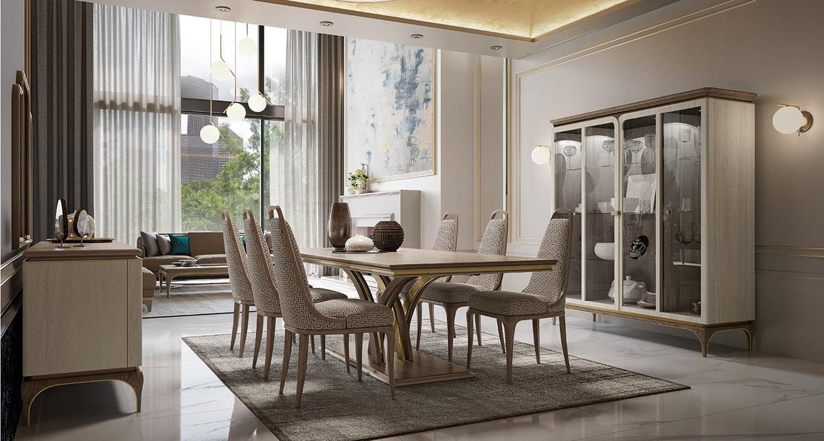Alexander Art. A06, Luxurious rectangular dining table