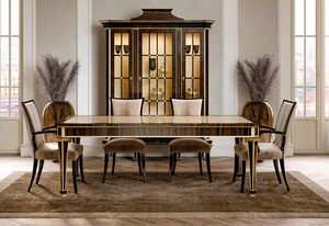 ART. 3437, Dining table with mother of pearl inlays