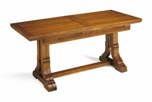 Art. 49, Extendable table in wood, traditional style